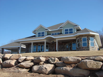 A custom natural stone home in Glastonbury, CT