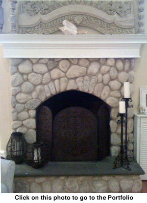 Choose from a variety of looks for your custom fireplace with Cantone and Sons Mason Contractors